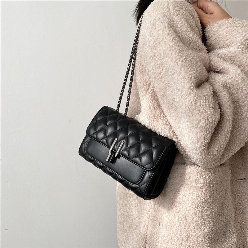 New Elegant Women Lady Shoulder Bag Pu leather Chain lady bag Sling shoulder