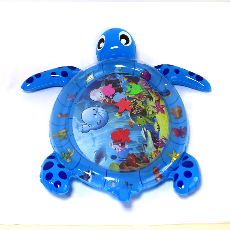 Hot selling new design tummy time mat ECO-friendly PVC inflatable kids baby water play mat