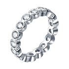 Eternity Pave TL253 Simple Designs Woman Eternity Ring 925 Sterling Silver Jewelry Micro Pave Zircon Wedding Rings
