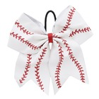 Hot outdoor sports baseball softball team head flower leather hair bow hand hair hoop wholesale