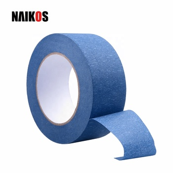 Custom 14 Day Clean Release No Residue Crepe Paper Blue Painters Masking Tape manufacturers