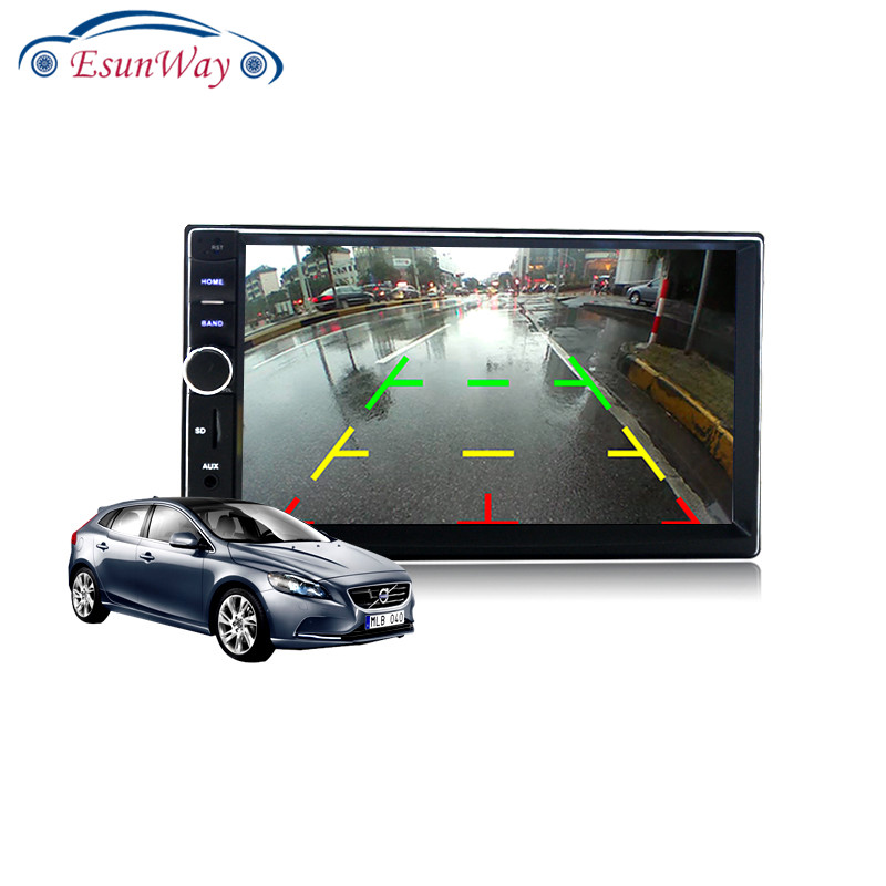 Универсальный автомобильный MP5 видеоплеер 2 Din с сенсорной панелью, автомобильный аудиоплеер с поддержкой FM/MP5/USB/AUX/радио