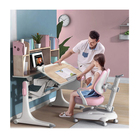 New Product 2021 Ergonomic Kids Study Table and Desk, OEM ODM Kids Study Table And Chair With Bookshelf/