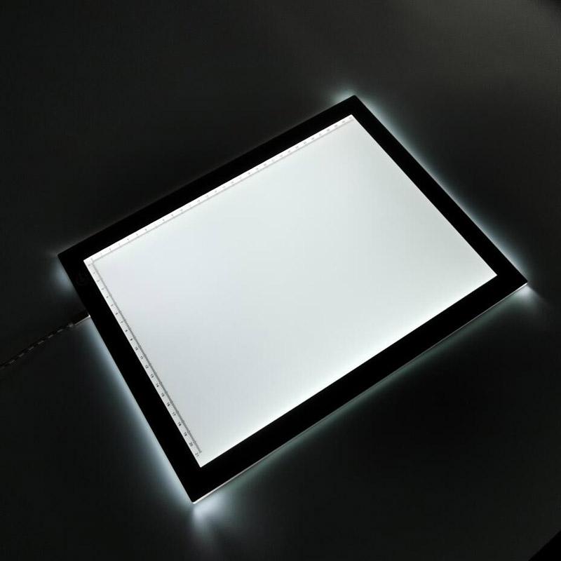 Светодиодный лайтбокс A4 для рисования, подсветка для копирования, чертежная доска с питанием от USB для рисования татуировок, потокового потока, набросков