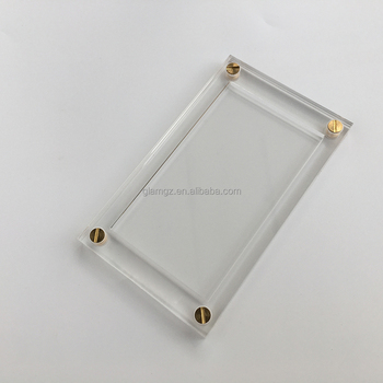Magnetic Acrylic Display Cases For Trading Cards Clear Protector Box