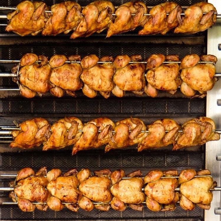 Multilayer 3/6/9 roasting chicken rotisserie poulet machine rotisserie cooker on wheels