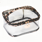 Bag Bags Bag Cosmetic Bag Set 3 In 1 PVC Mesh Waterproof Makeup Bag Big Capacity Leopard Printed Customize PU Cosmetic Bags Set
