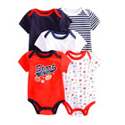 100% Cotton Baby 5 Pack 100% Cotton Short Sleeves Summer Baby Bodysuit Infant Clothing For Boys And Girls
