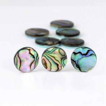 Polished mother of pearl paua round pieces abalone natrual sea shells beads craft in stock