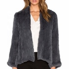 YR409 Australian Style Rabbit Fur Garment/Short Knitted Rabbit Fur Jacket Women