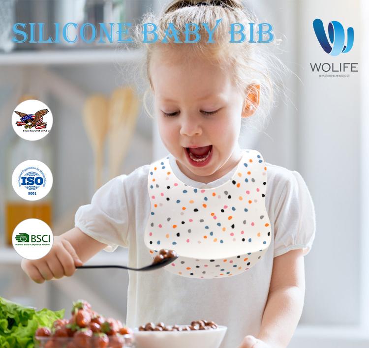 Новый продукт из пищевого силикона, силиконовый нагрудник Oem, нагрудник из силикона, Детская водонепроницаемая ткань для нагрудника