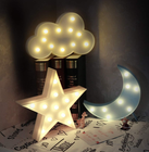 Star Shape Light Led Lamp Decoration Factory Wholesale Home Decor Battery Lamps Led Marquee Sign Star Shape Desktop Light Led Custom Sign For Room Decoration