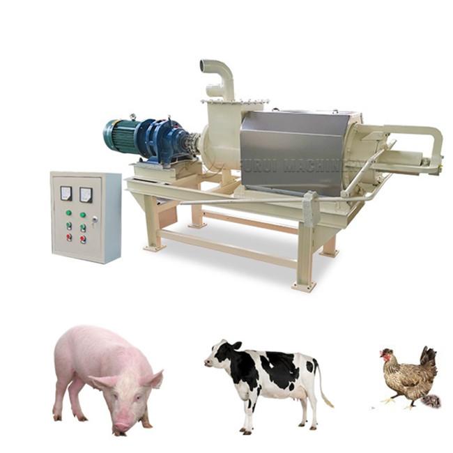 Высококачественная машина для обезвоживания свиного навоза, винтовой пресс/сепаратор твердых жидкостей для птицеводческого навоза на продажу