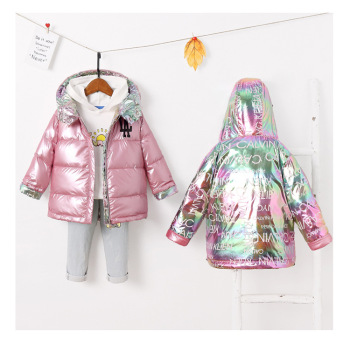 2020 Long sleeve winter warm black cotton jacket fashionable baby Down Jackets kids girl coat