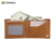 custom Money clip 2-Fold RFID Blocking multi card genuine leather wallet for men personalized billfold