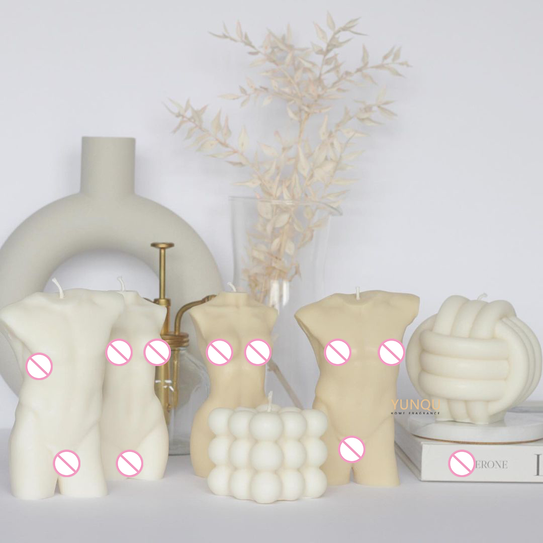 New arrivals home decor scented female body shaped candles bubble candle body candle