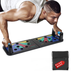 Muscle Muscle Push-up Pushup Foldable Workout Fitness Muscle Portable Set System Exercise Leg Pull Training 9 In 1 Push Up Board