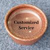 Rose gold glitter circlebox