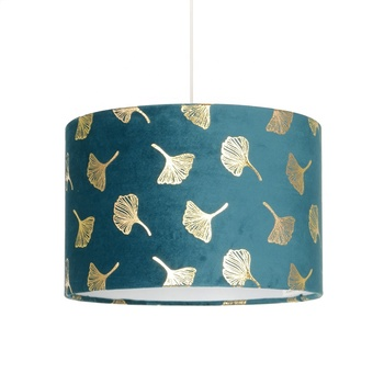 indoor lighting leaves shades decorative modern velvet cover with gold luxury foil printing lamp shade