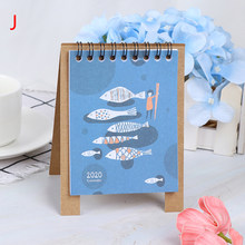 2020 свежий мультфильм Мини Фламинго настольная бумага календарь двойной ежедневный планировщик стол планировщик годовой Органайзер дня ру...(Китай)