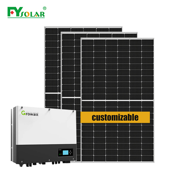 solar panel kit set for home green energy on grid tired 2kw 3kw 5kw home solar energy system install on roof