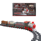 Train Toy Track Train Set - 2020 Updated Electric Train Toy For Boy Girl W/ Lights Sound Railway Kits W/ Locomotive Engine Cargo Car Track