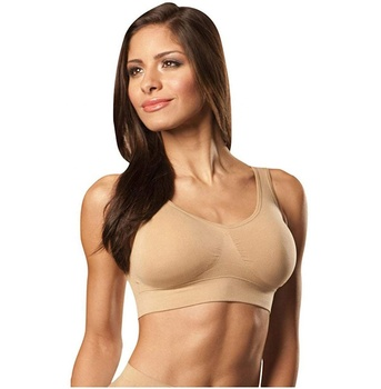 Women's Seamless Comfort Sports Bras with Removable Pads On TV