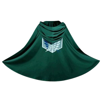Hot Sale Cosplay Anime Cloak Cape Titan Robe Hoodie attack on titan cloak For Party Halloween Funny Costumes Supplies