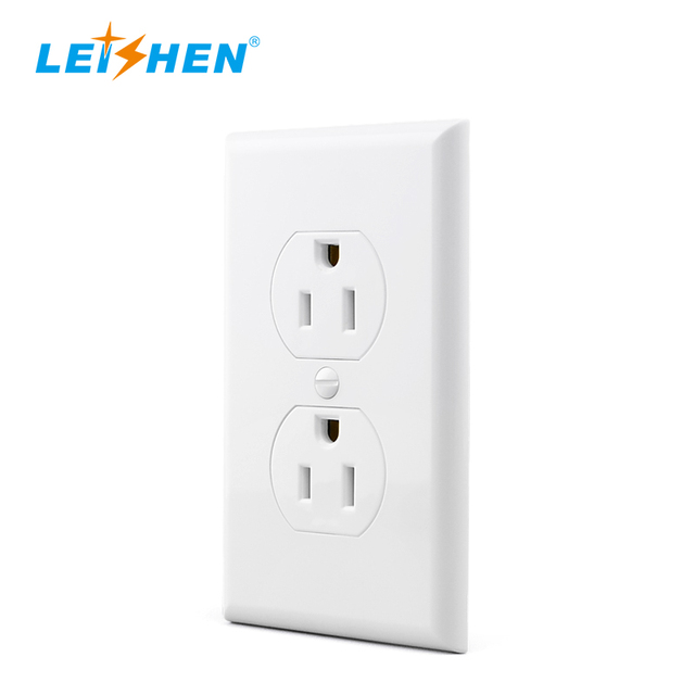 Residential wiring supplies Leishen decora receptacle,duplex outlet plug white,black or Customized color