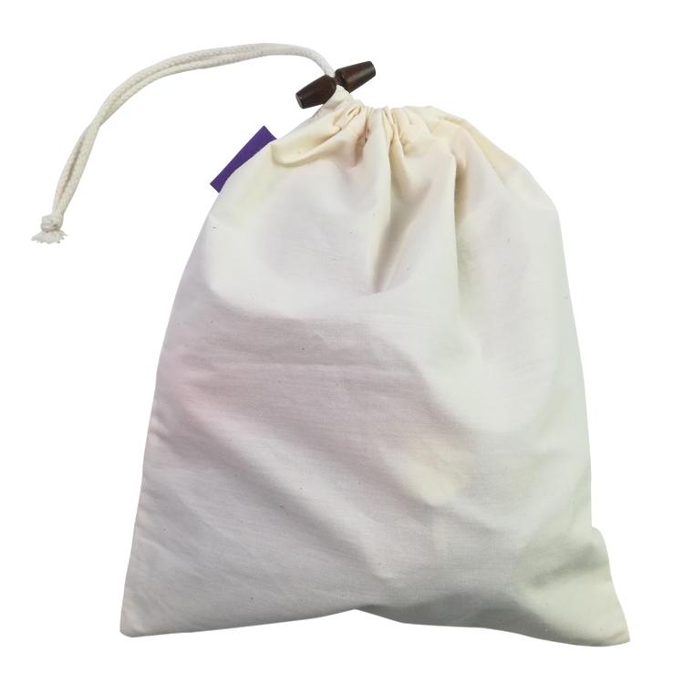 GOTS сертифицированный органический хлопок риса муслин производства мешок шнурок