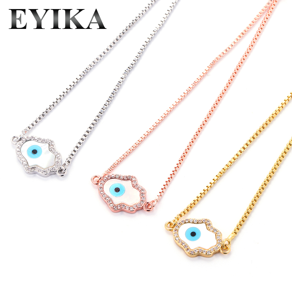 Nature white Pearl pendant with CZ paved Hamsa Fatima Hand pendants,gold plating pearl charm