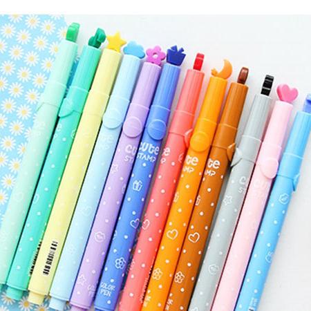 Милые яркие цветные кавайные маркеры, чернила, маркерная ручка, креативная маркерная ручка, школьные принадлежности, офисные канцелярские принадлежности