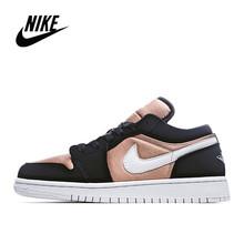 NIke Air Jordan 1 низкая черно-белая панда низкая Мужская и женская Баскетбольная обувь Размер 36-45 553558-103()