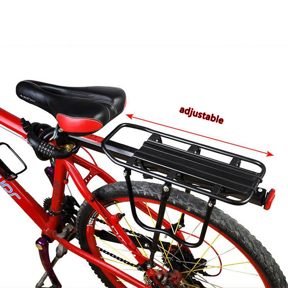 MTB BMX Bicycle Luggage Carrier Cargo Rear Rack Alloy Shelf Cycling Seatpost Bag Holder Stand for 20-29 inch Mountain Road bikes