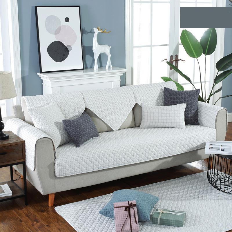 Modern simple four seasons general yarn-dyed wash cotton sofa cushion fabric art sofa cover
