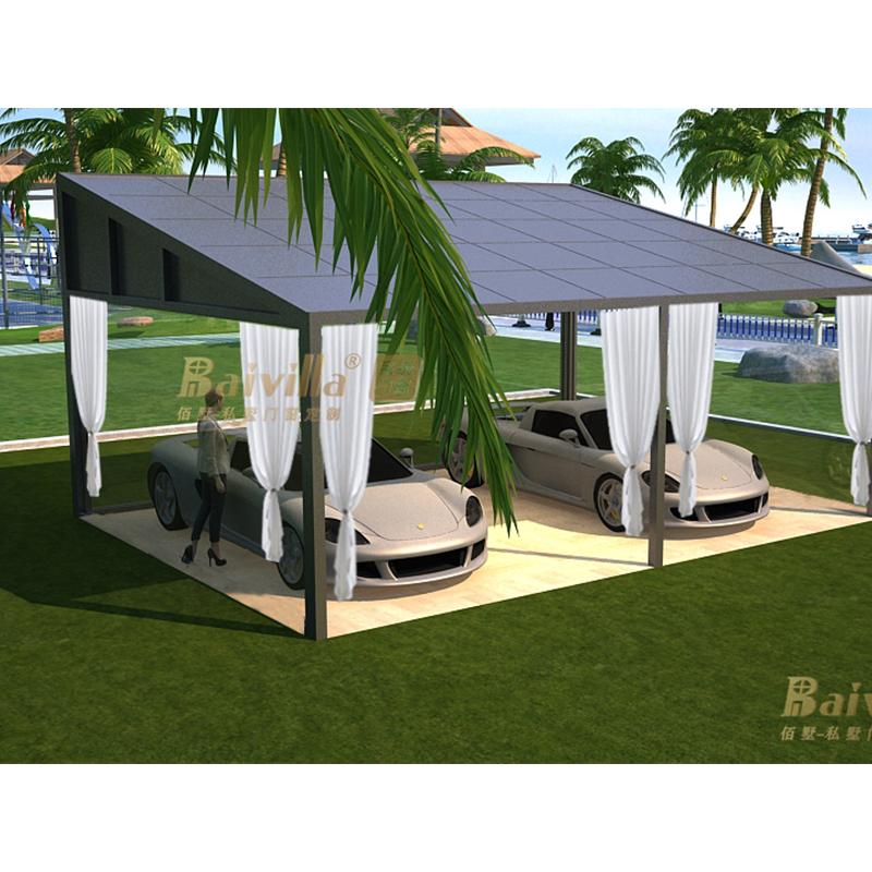 2 Автомобильные металлические алюминиевые навес с двойным солнцезащитным сараем для двух автомобилей