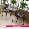 4-2 chair 1 rose pattern round table D60cm