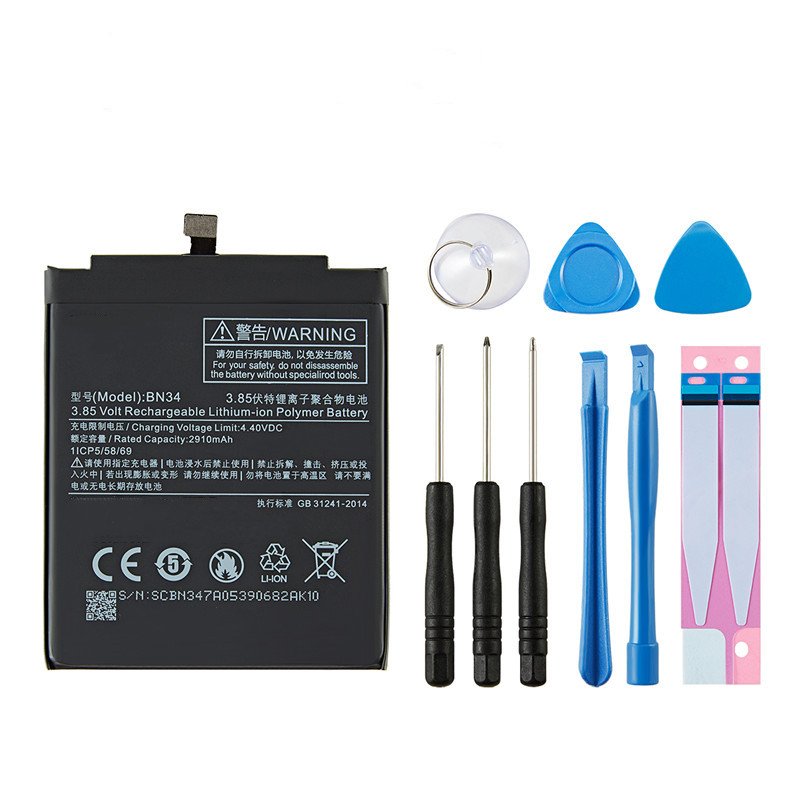 Горячая Распродажа, внутренняя батарея 3000 мАч, батарея BN34 для Xiaomi Redmi 5A Mi Hongmi 5A, батарея