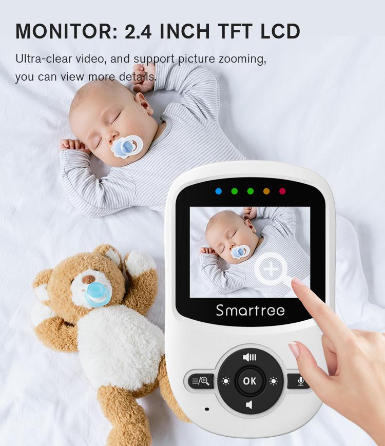 Радионяня оптовая продажа беспроводной 2,4 ГГц FHSS белая спортивная мини-видеокамера на двухстороннее аудио Детский Монитор телевизионной камеры для видеонаблюдения