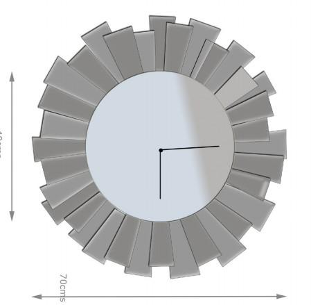 Современные элегантные часы ручной работы, лидер продаж, прозрачные Серебристые декоративные зеркальные настенные часы для украшения дома