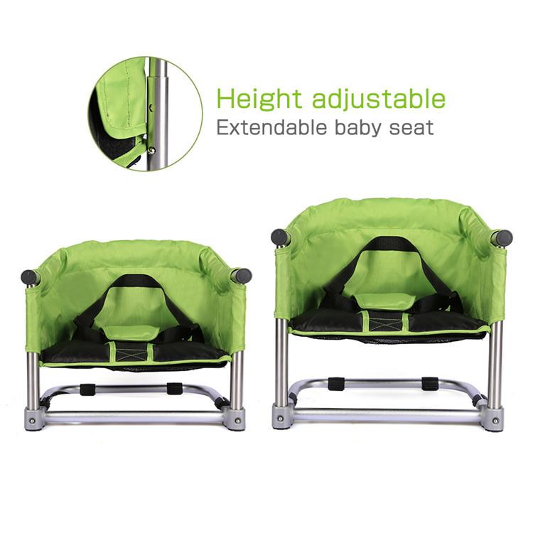 Высококачественное зеленое желтое складное детское кресло, детское портативное детское сиденье