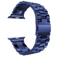 Ремешок из нержавеющей стали для Apple Watch 5 4 3 2 1 ремешок 38 мм 42 мм Браслет спортивный ремешок для iWatch series 5 4 3/2/1 40 мм 44 мм ремешок(Китай)