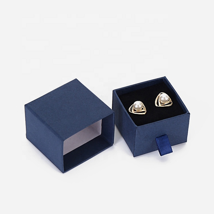 Black White Blue Pink Jewelry Box Earrings Necklace Bracelet Display Gift Drawer Jewelry Packaging Box