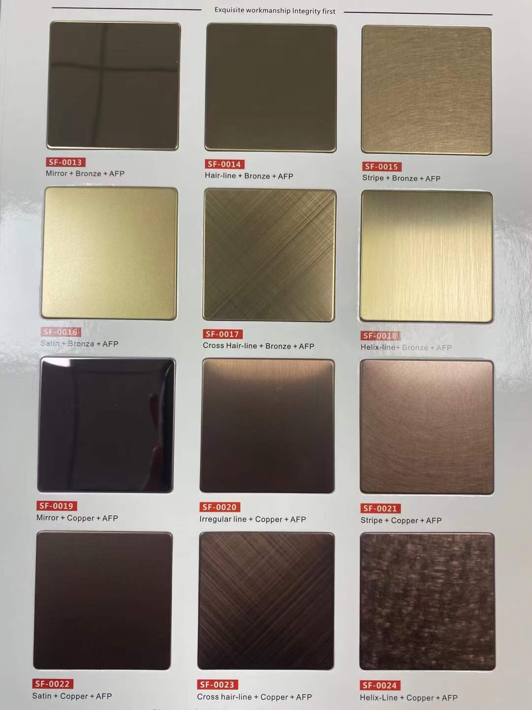 Home Use Stainless Steel Customization for Golden Panel