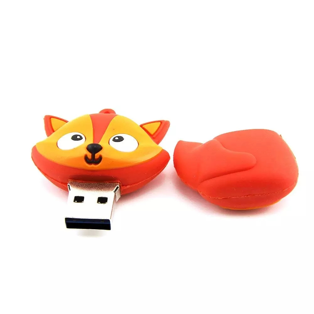 Cute Animals Red Fox USB Flash Drive 64GB 32gb Pen Drive 16gb Memory Stick 4gb 8gb PenDrive - USBSKY | USBSKY.NET