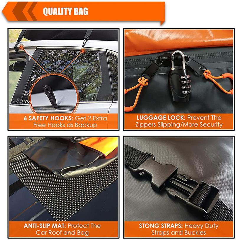 2021 new Travel Waterproof car Top Luggage Carrier Luggage Roof Bag Car Roof Luggage Carrier car roof top bag