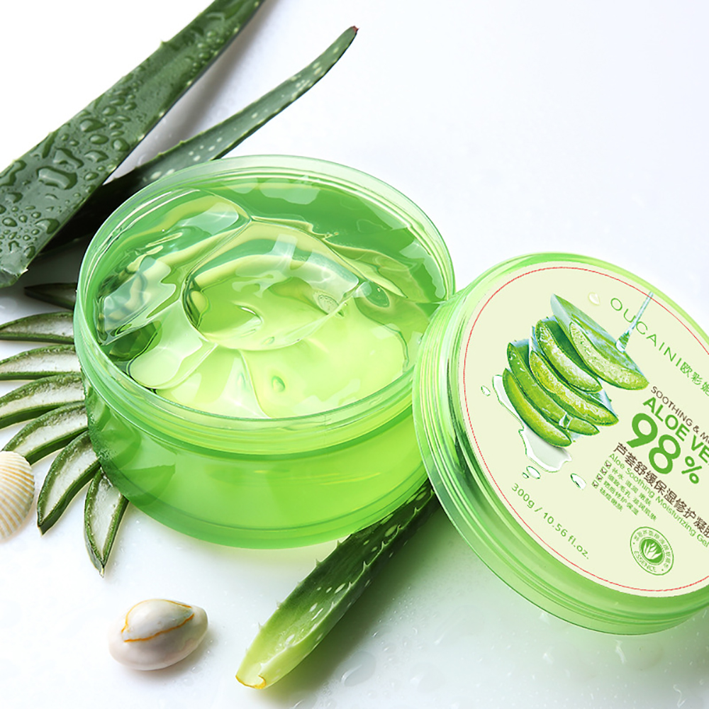 High Quality Wholesale 100% Natural Organic Aloe Vera Gel For Face Skin Extract Sunburn Soothing Aloe Vera Gel