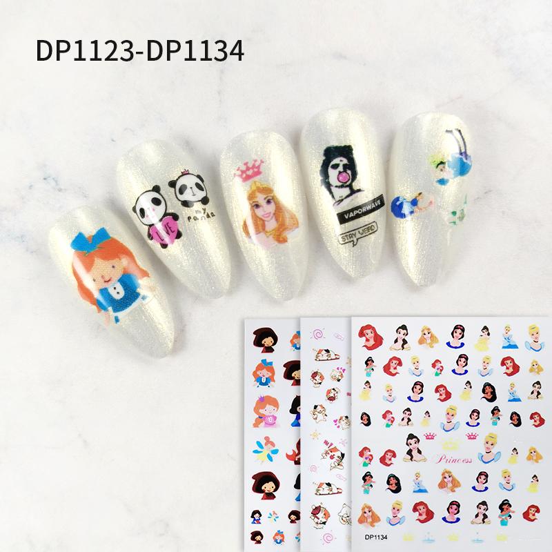 Chinese Guangzhou Nail Supplies Cartoon Designs Nail Art Stickers & Decals 3D