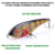 VTAVTA 130g 170mm Life-like Flatfish Hooks Fish Bait Fishing Lures for Bass Vibe Sinking VIB Lure for Bass Trout
