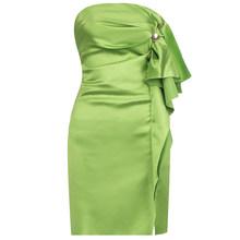 Женское мини-платье без бретелек Ailigou, вечернее платье знаменитости с оборками, Клубное платье для подиума, лето 2020(Китай)
